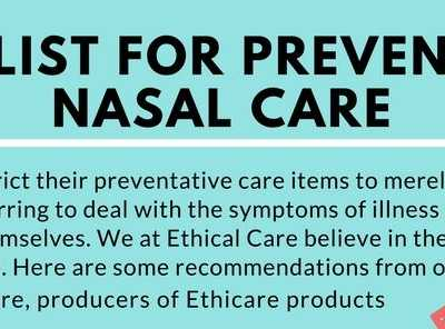 Nasal Irrigation as a Part of Preventative Care